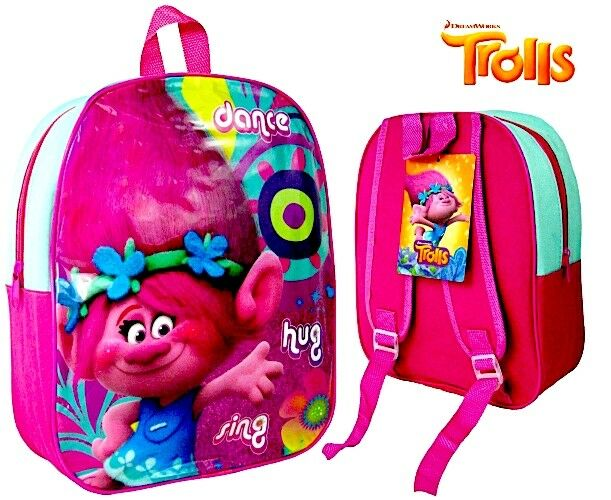519aebef673a Trolls DreamWorks Backpack Poppy Dance Hug Sing With Tag 32 X 26 Cm for  sale online