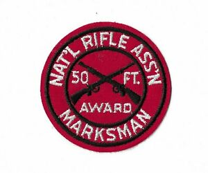 NRA 50 FT. MARKSMAN AWARD PATCH NATIONAL RIFLE ASSOCIATION 1960'S NEW CONDITION