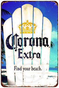 Corona extra find your beach Vintage look Reproduction ...