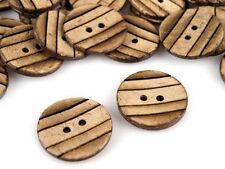 10 x bottoni di cocco 36' Eco Cucito Craft Scrapbooking bagmaking