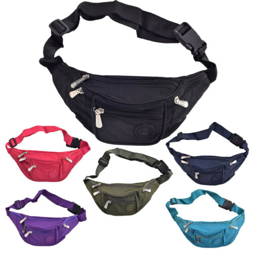 Bumbag Black Cerise Turquoise Navy Purple Green Super Lightweight Waist Bag