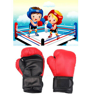 1 Pair Durable Kids Children /'s Boxing MMA Training Gloves Thai  Punching Bag