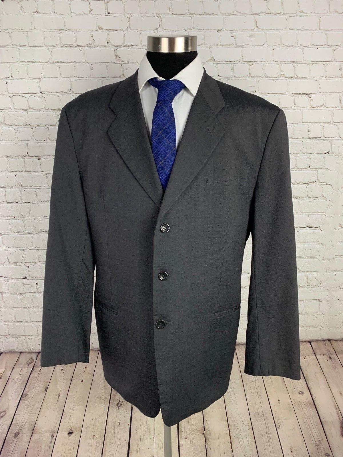 Mint  Giorgio Armani Collezioni  Herren grau Silk & Wool 2pc Suit Größe 46R 36Wx30L