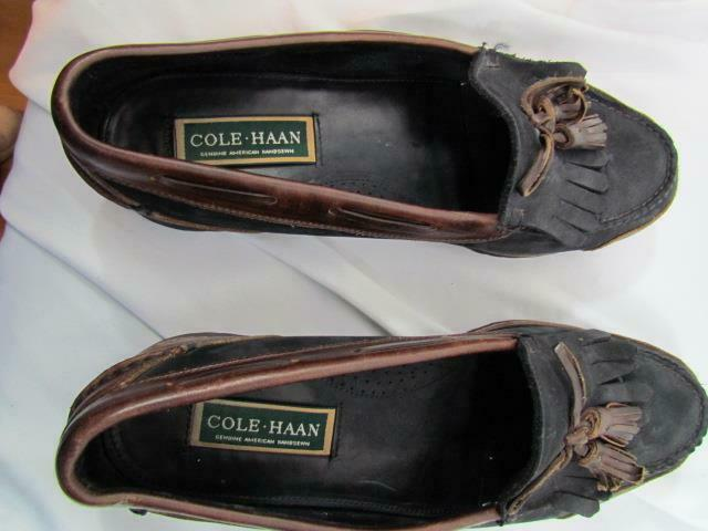 Cole Haan Men's Brown Black Boat shoes Hand Sewn Size 10.5 M
