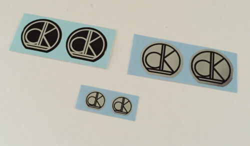 DK CHROME /& BLACK Stem  Decals Choice of 2 Styles /& 2 Colors