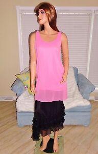 Womens-sexy-feminine-hot-pink-chiffon-blouse-shirt-top-by-Dainty-Hooligan-sz-S