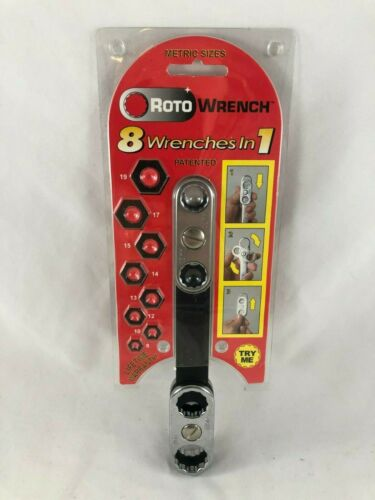 ROTO WRENCH 99S109 8 SIZES IN 1-METRIC SPIN LOCK DESIGN 19 17 14 15 13 12 10 8mm