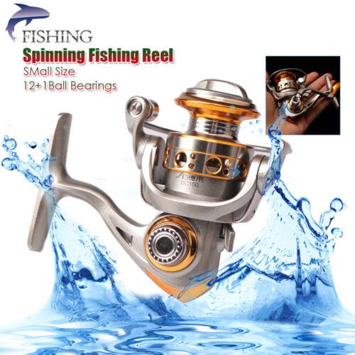 Mini Spinning Fishing Reels Metal 12+1BB 5.2:1 Saltwater Freshwater Wheel Gear