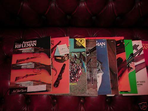 The American Rifleman Magazine Year 1978 12 Issues Good