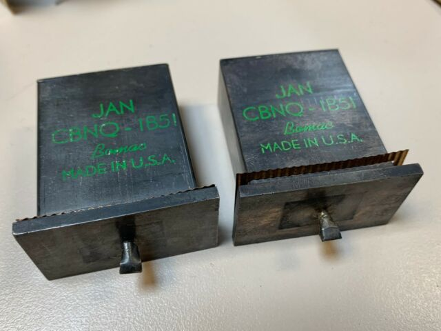 2 pcs Vacuum Tube Bomac JAN-CBNQ-1B51 JAN CBNQ 1B51 Transmit Receive Cells