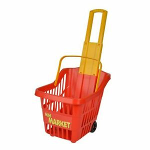 Children-Shopping-Shopping-Basket-Market-Stall-Toy-Trolley-Pull-Cart
