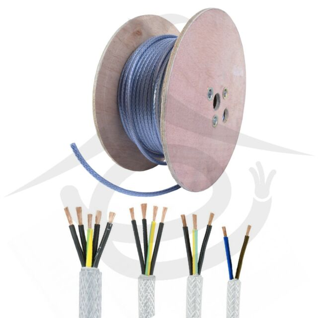 ARMOURED CABLE TRANSPARENT DISCOUNTED 100M DRUM SY CABLE 2.5MM 2 CORE BRAIDED