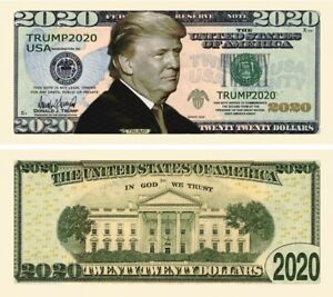 Details about Trump 2020 Novelty Dollar & Semi Rigid Protector this Bill is  Top Seller HOT
