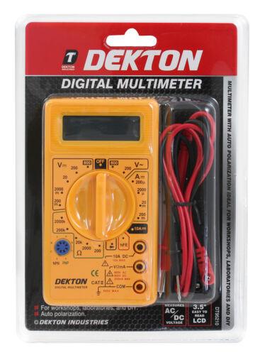 Lcd digital multimètre volt meter ampèremètre ohm ac dc circuit checker testeur buzz