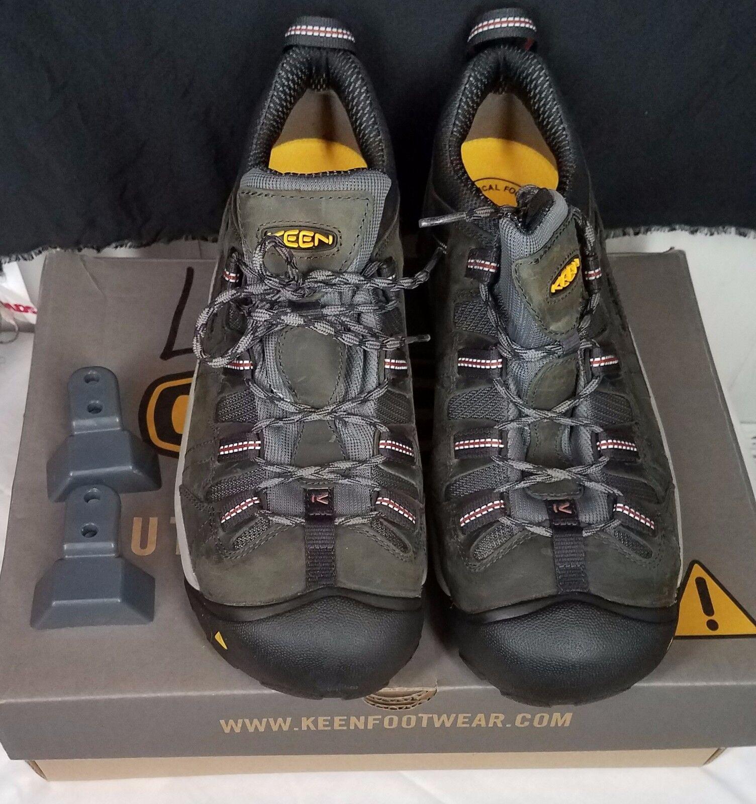 Scarpe casual da uomo  Keen Detroit Low Steel Toe Shoes uomos size 12 EE Wide green