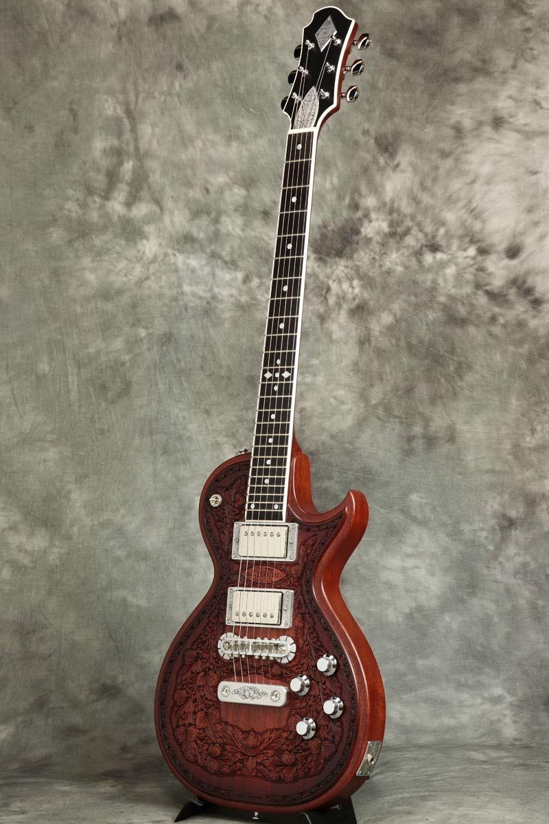 New ZEMAITIS Custom Shop CS24SU WOOD LEAF MAHO Electric Guitar From Japan