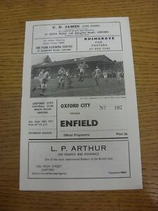 18-09-1971-Oxford-City-v-Enfield-Neat-Team-Changes-This-item-is-supplied-by