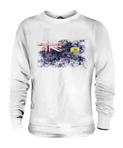 Saint Helena Drapeau Délavé Unisexe Pull st Hélène Helena Cadeau T-Shirt