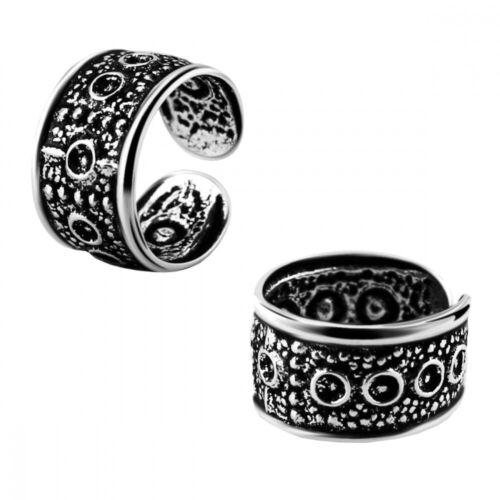 1 Stück Helix Ohr Manschette Kreise Design Ohrclip Fake Piercing 925 Silber Ø 9m