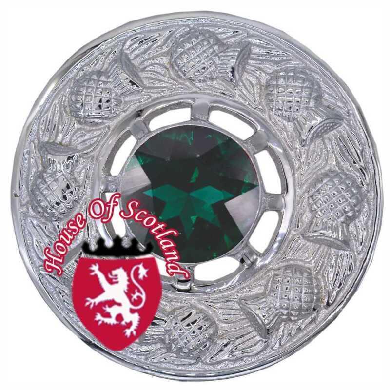 Schottisch Kilt Fly Plaid Brosche Irisch Harfe Chrom 7.6cm Keltisch Broschen