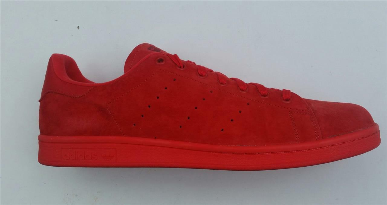 Adidas Hommes Stan Stan Hommes Smith Rouge Baskets Cuir Rétro Chaussure s75109 Sport Neuf UK 65d811