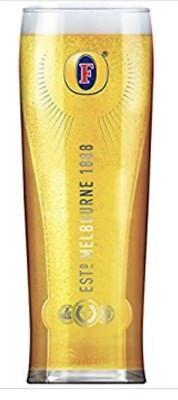 100% Vero Personalizzato Inciso Con Marchio Pinta Fosters Beer Glass Con Scatola Regalo-