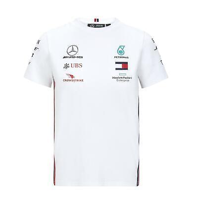 Mercedes AMG F1 Team Driver Puma Enfant Blanc T-shirt Officiel 2018