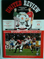 MINT 1991/92 Manchester United v Athletico Madrid ECWC 2nd Rd, 2nd L  with Token