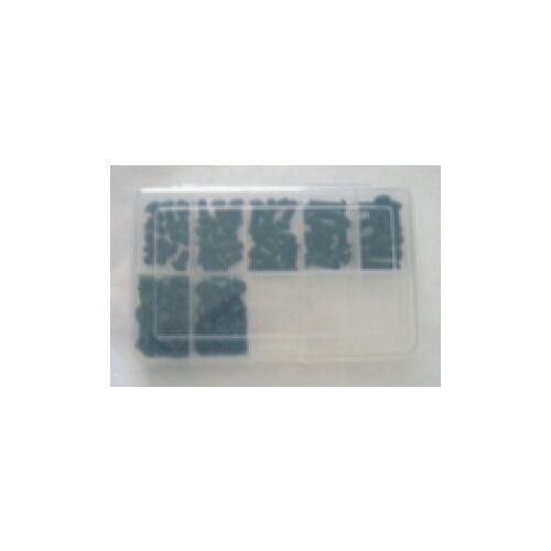 M6 esagono interno Viti Set 150 PEZZI ACCIAIO INOX a2 NERO ISO 7380