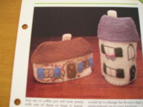 Knitting Patterns pour Café et Thé Cosies.