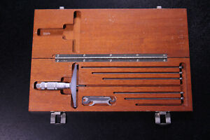 0-6 Depth Micrometer Set Hardened Toolmaker Milling Range GRAD .001