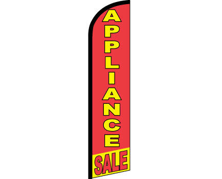 APPLIANCE SALE Windless Full Curve Top Advertising Banner Flag