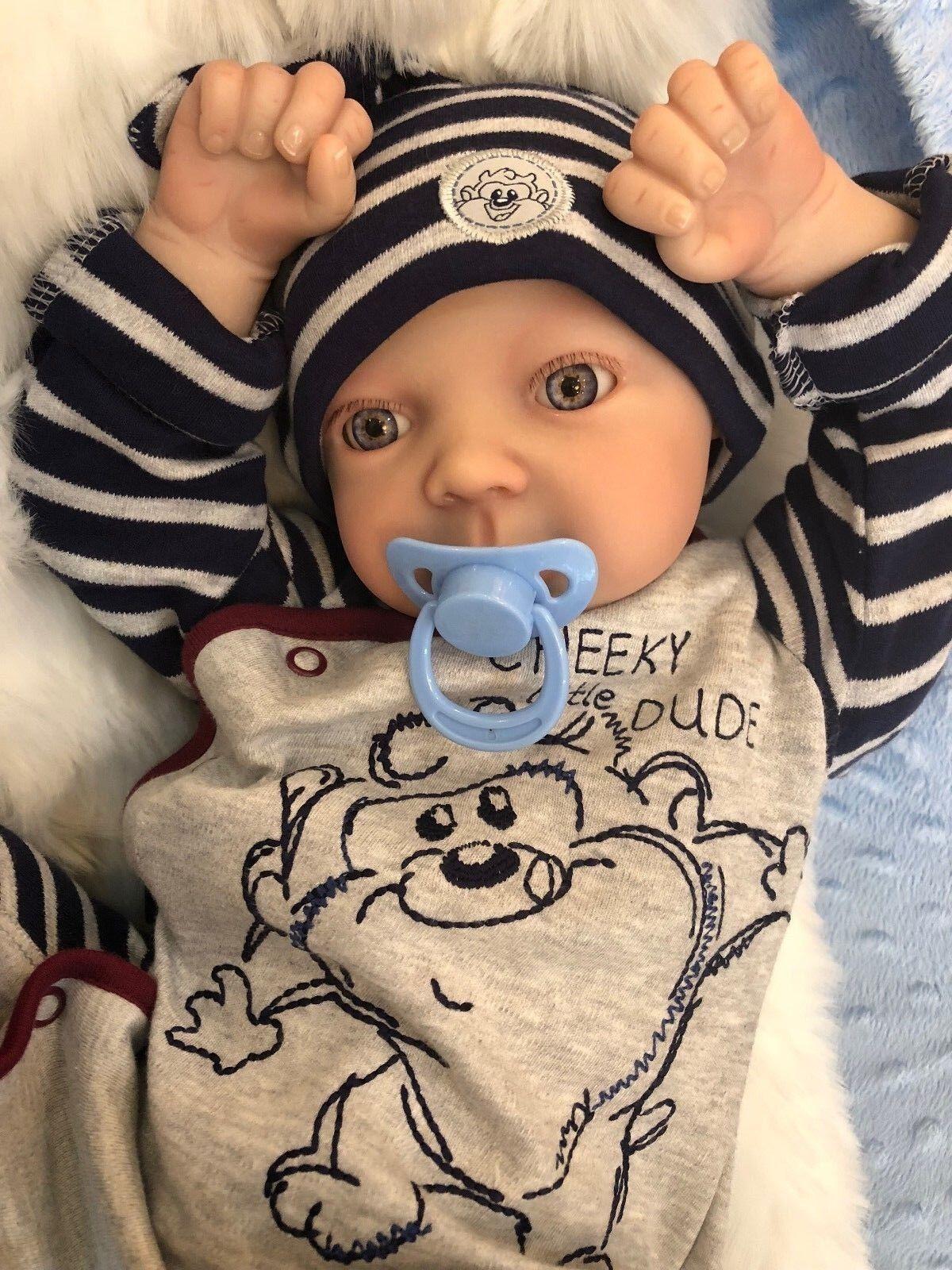 Cherish Bambole Per Bambini Reborn Reale Bambino Wide Awake Jay realistico