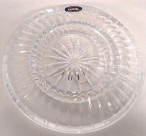 NEW-GENUINE-LEAD-CRYSTAL-GLASS-ASHTRAY-6-75-034-DIAMETER-MADE-IN-USA