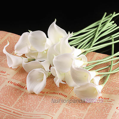 Wedding Bouquet Calla Lily Bridal Latex Real Touch Flower Bouquets