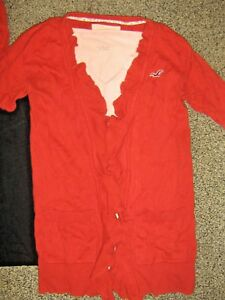 HOLLISTER-CALVIN-KLEIN-womens-szSMALL-S-MEDIUM-M-orange-sweater-peach-shirt-lot