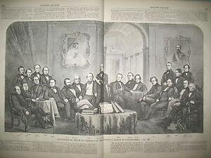 SIGNATAIRES-DU-TRAITe-DE-COMMERCE-ENTRE-LA-FRANCE-ET-L-039-ANGLETERRE-GRAVURES-1863