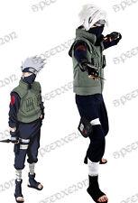 Naruto Kakashi Hatake Cosplay Costume Full Set Mask Wig Shoes Gloves Costume