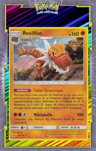 69//131-Carte Pokemon Neuve Française SL06:Lumière Interdite Rexillius Holo