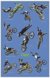 MOTOCROSS-FREESTYLE-TRICKS-COLLAGE-24x36-POSTER-Big-Air-Motorcycle-Motorcross