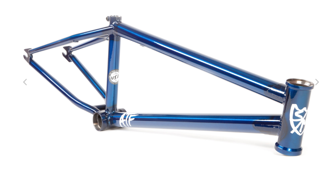 S&M 22 Inch Atf Frame 22.125 TRANS blu Faction Induct Bmx Bike 22 22.125 TT