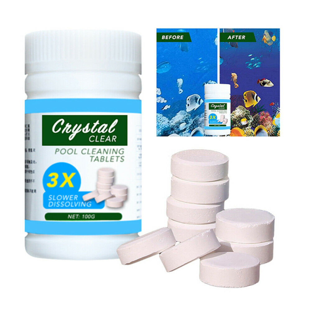 100pcs Swimming Pool Cleaning Tablets Disinfection Effervescent Pills