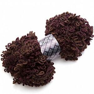 Filatura-Di-Crosa-Asoletta-Super-Bulky-Boucle-Yarn-15-Mahogany-Brown-Knit