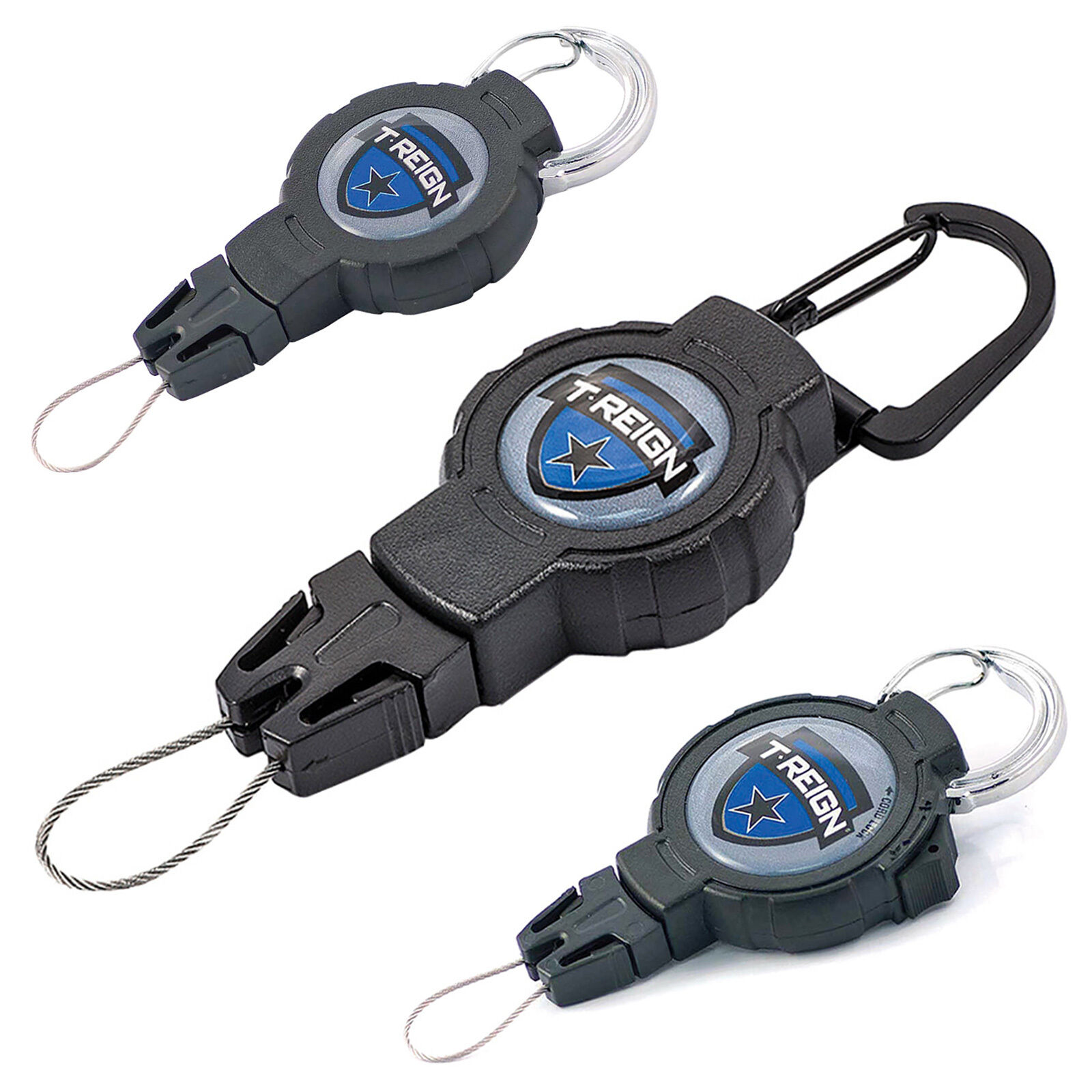 T-Reign Retractable Outdoor Tactical Military Gear Tether Lanyard with Kevlar