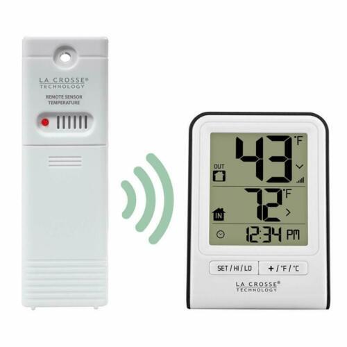 La Crosse Technology 308-1409Wt-Cbp Wireless Temperature Station White