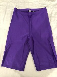 050b5ce6279 Rainbeau Curves Women s Bike Short Purple Size 1x Shiny Elastic