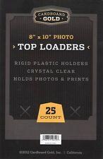 50 8x10 Ultra CBG Premium Pro Hard Rigid Toploaders Photo Topload Holders - New