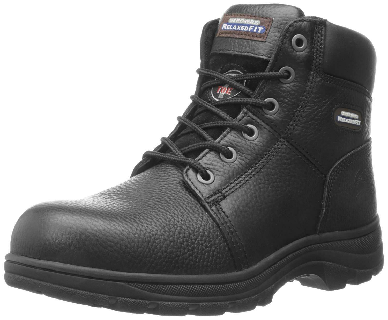 Skechers para el Trabajo Hombre Workshire Corte Holgado Acero Puntera de Acero Holgado Botas c97fa9