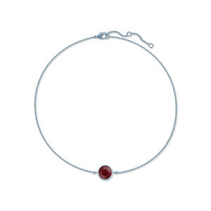 2798051ae19f Chain Bracelet with Red Siam Round Crystals from Swarovski Rhodium ...