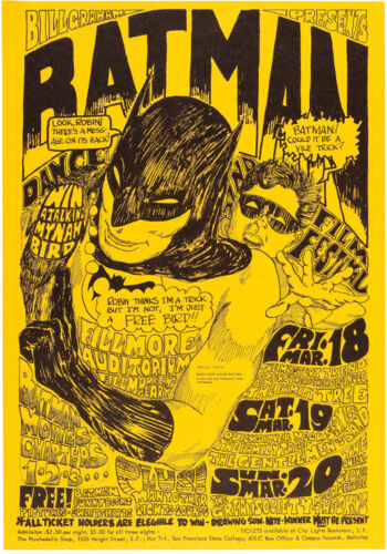 """Big Brother and the Holding Company Batman Concert Poster 13x19/"""" Photo Print"""